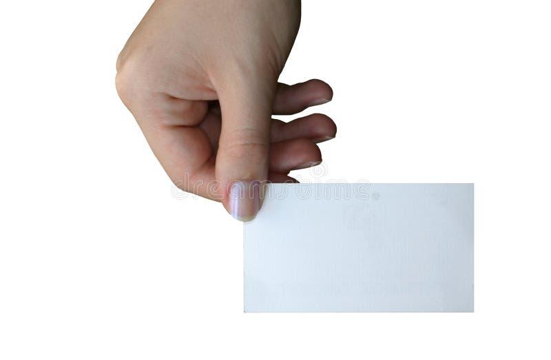 пустое удерживание визитной карточки 3 стоковые фотографии rf