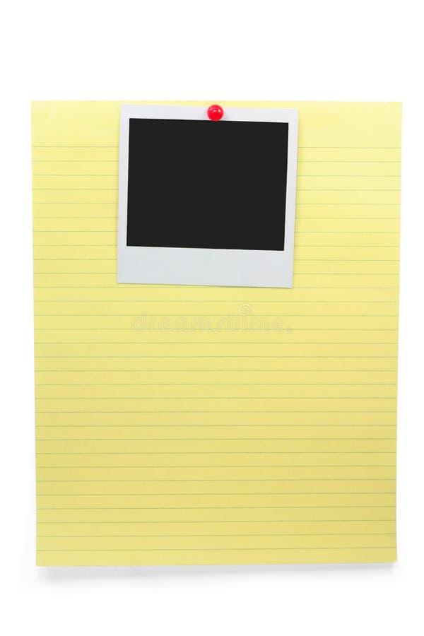 пустое фото notepaper стоковое изображение