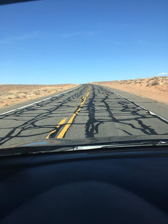 Пустое шоссе в Юте стоковое фото rf
