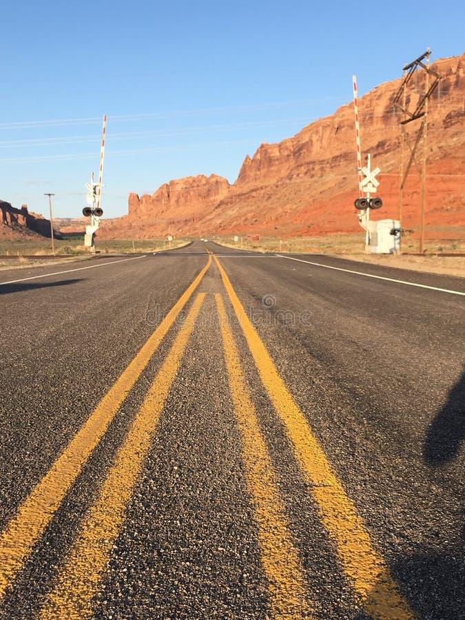 Пустое шоссе в Юте стоковая фотография rf