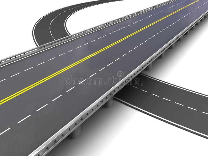 Пустое шоссе иллюстрация вектора