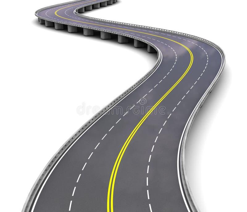 Пустое шоссе иллюстрация штока