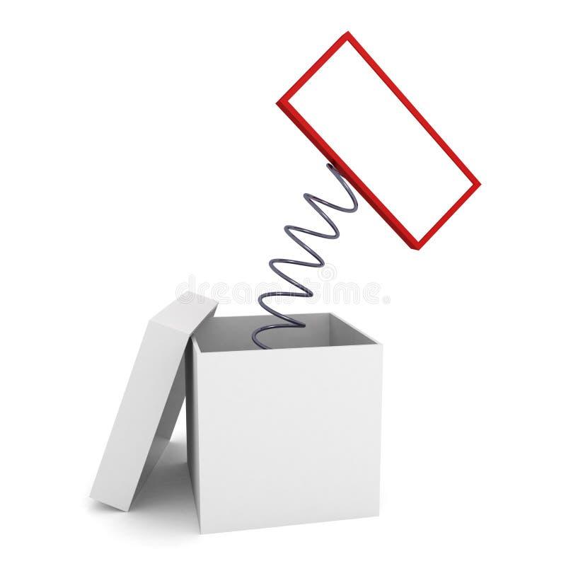 пустое copyspace коробки вне подписывает скакать иллюстрация штока