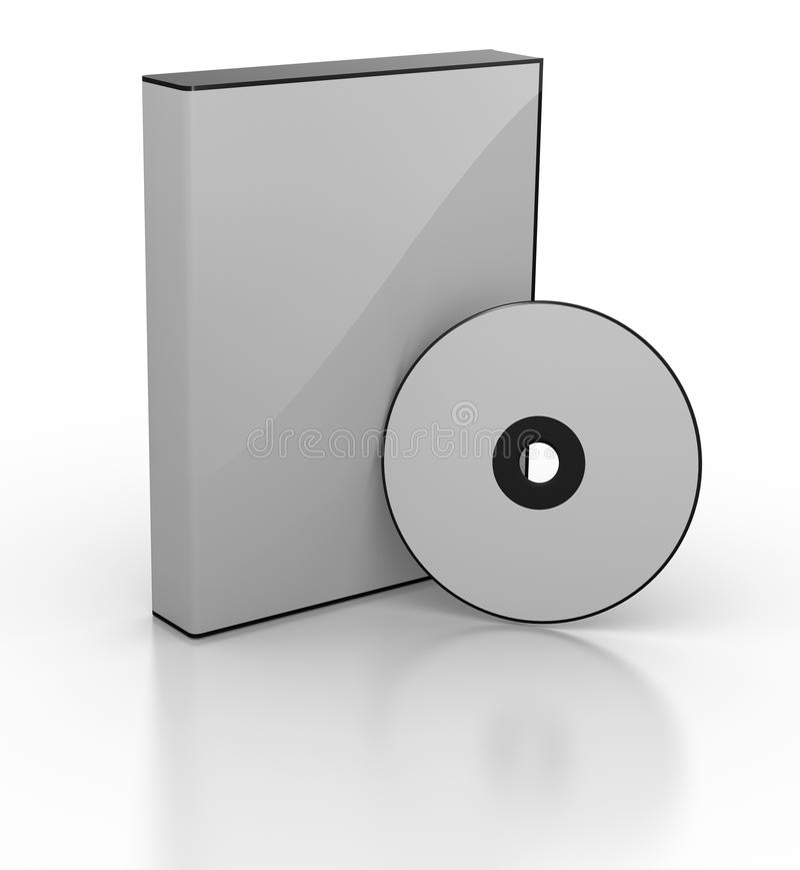 пустое dvd коробки иллюстрация вектора