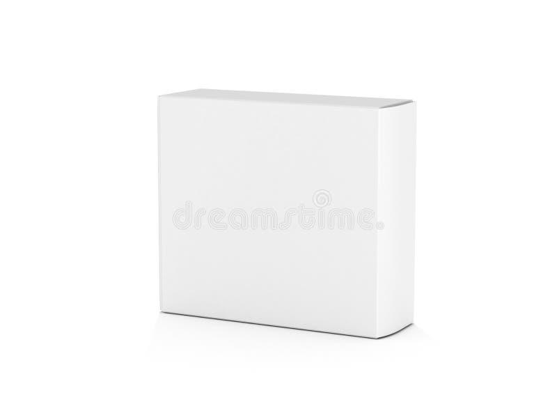 пустой белизна изолированная коробкой иллюстрация вектора