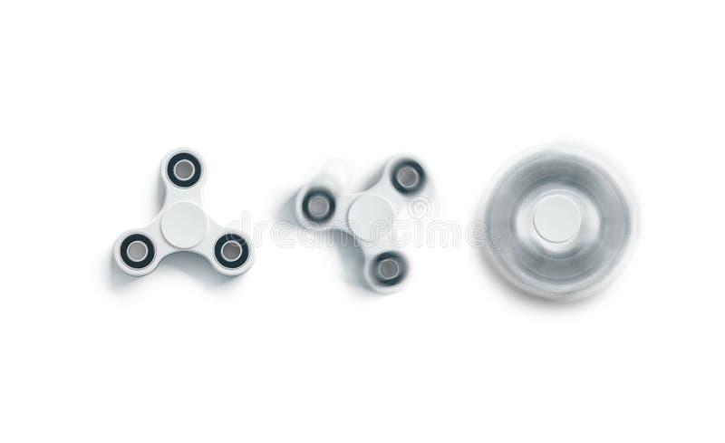 Пустой белый модель-макет обтекателя втулки непоседы, static и закрутка, взгляд сверху стоковая фотография