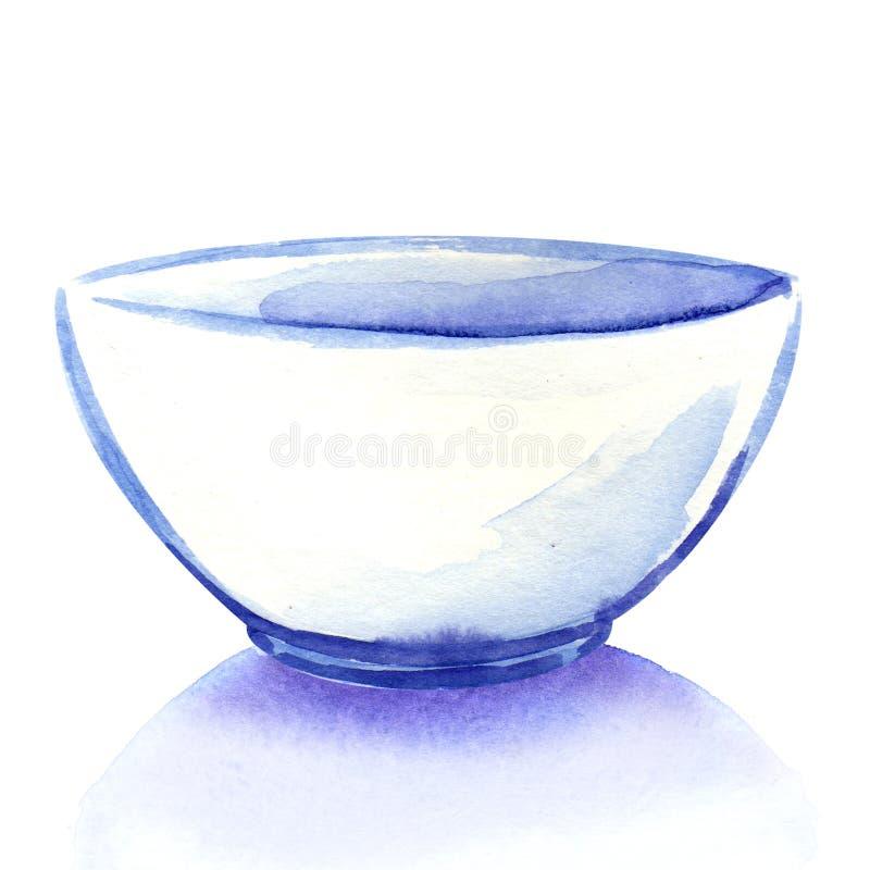 Пустой белый изолированный шар иллюстрация вектора