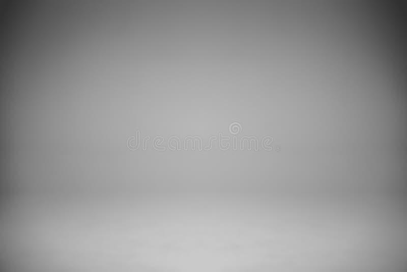 Пустой белый серый фон студии, конспект, предпосылка серого цвета градиента стоковое фото