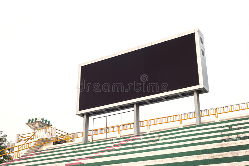 Пустой белый цифровой экран афиши для рекламировать стоковая фотография
