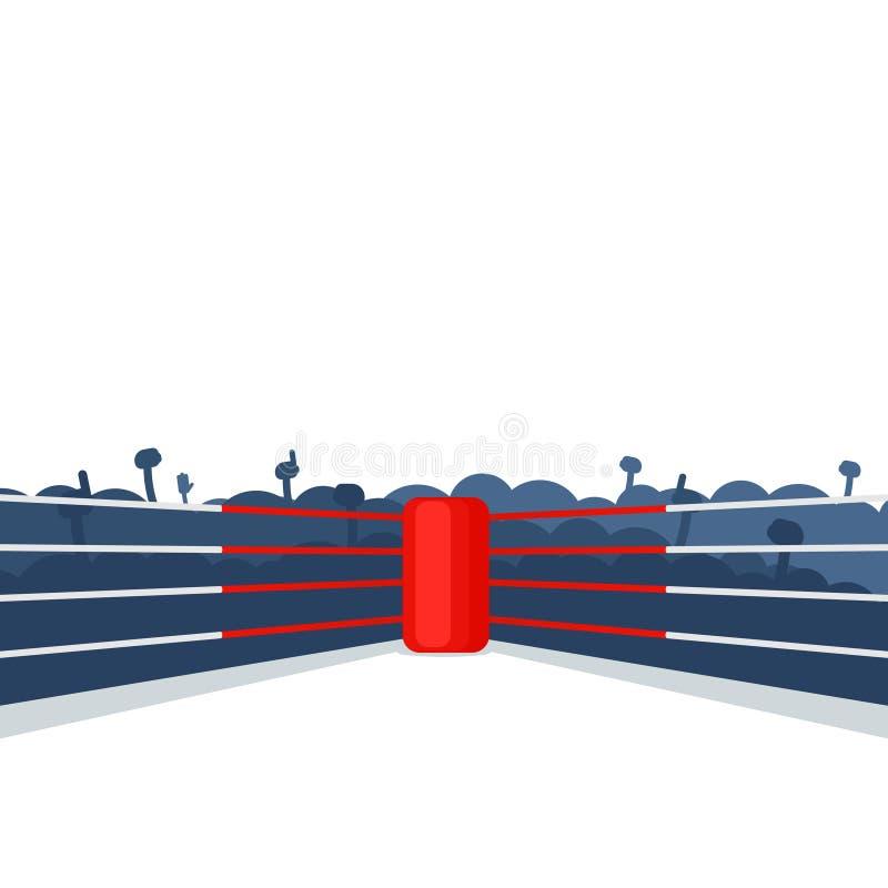 Пустой боксерский ринг бесплатная иллюстрация