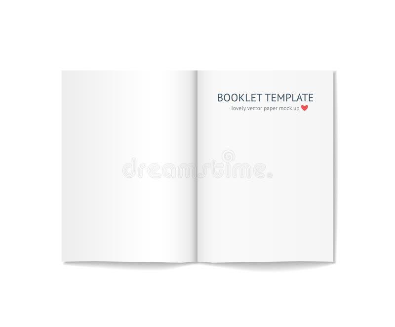 Download Пустой буклет при тень изолированная на предпосылке Иллюстрация вектора - иллюстрации насчитывающей страница, бумага: 81802858