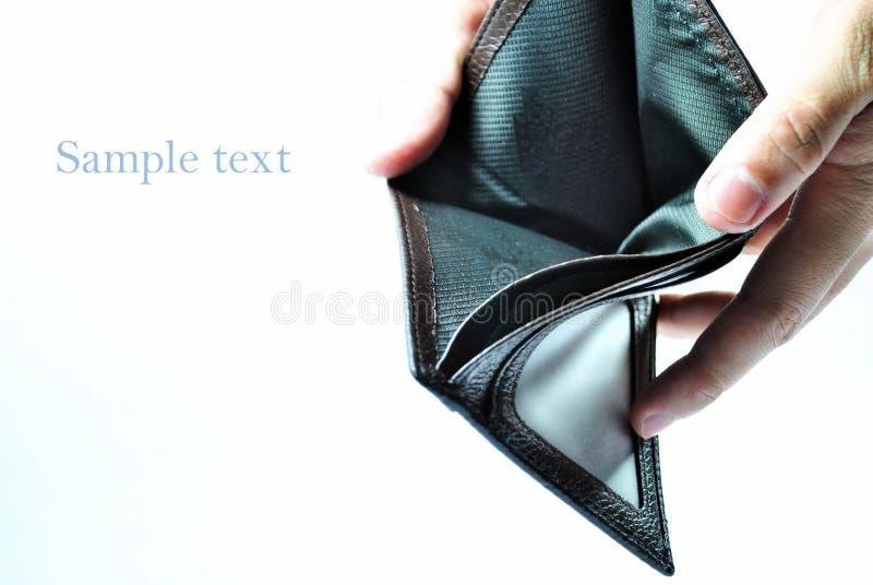 пустой бумажник стоковое изображение rf