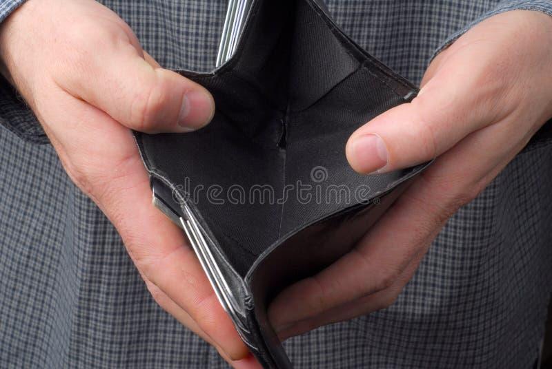 пустой бумажник стоковая фотография rf