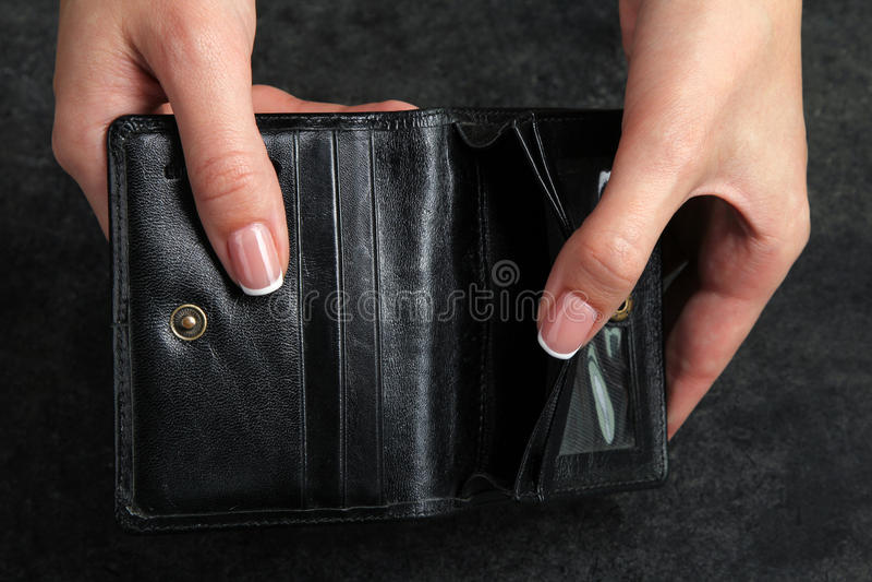 пустой бумажник стоковое изображение