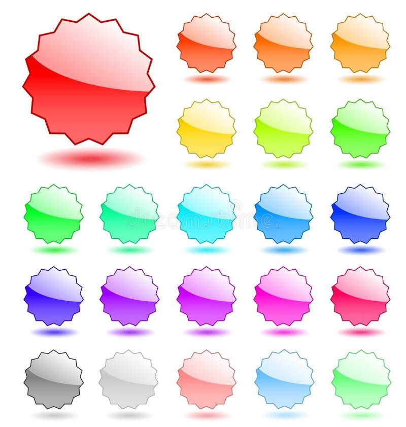 пустой вектор бирок иллюстрация штока