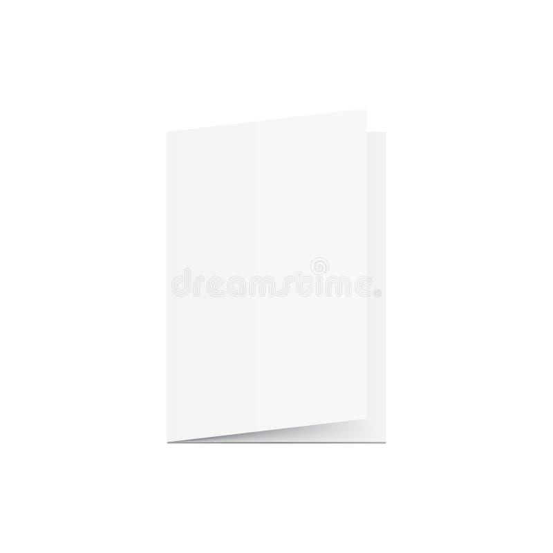 Пустой вектор модель-макета поздравительной открытки на белой предпосылке Модель-макет co иллюстрация вектора