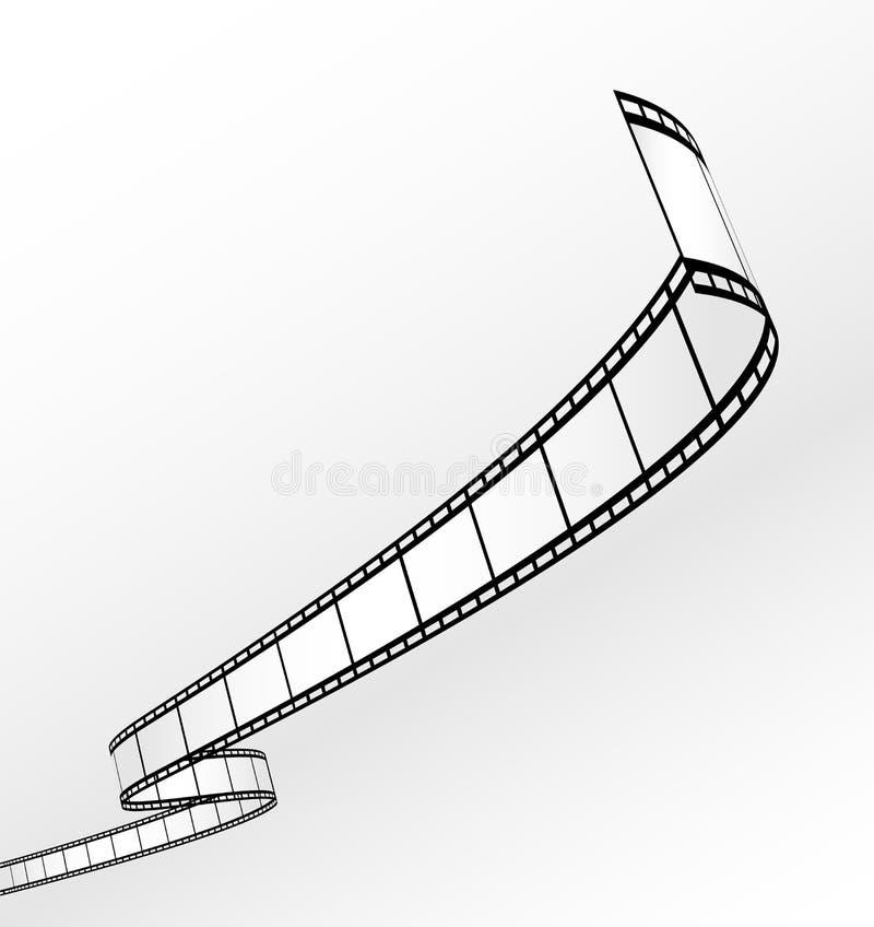 пустой вектор прокладки пленки иллюстрация штока