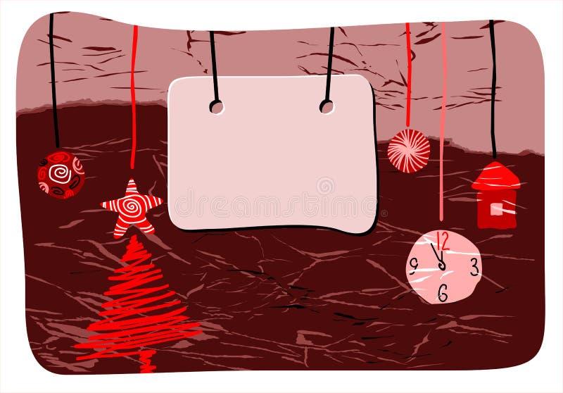 пустой вектор рождества бесплатная иллюстрация