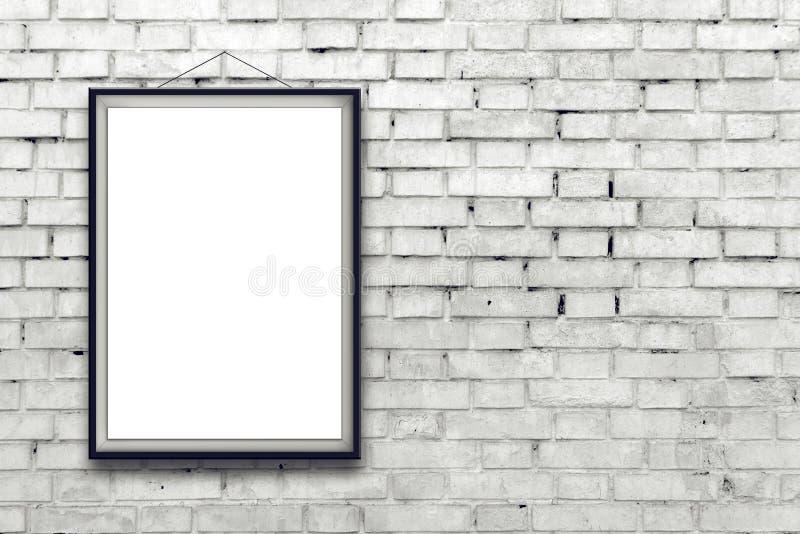 Пустой вертикальный плакат картины в черной рамке стоковое изображение