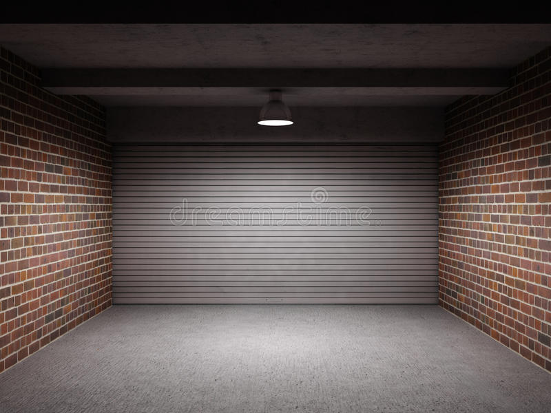 Пустой гараж иллюстрация штока