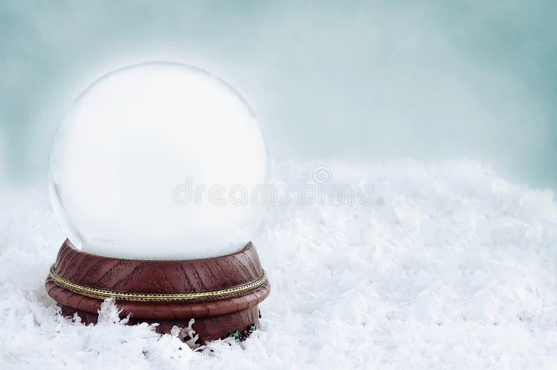 Пустой глобус снежка стоковые изображения rf