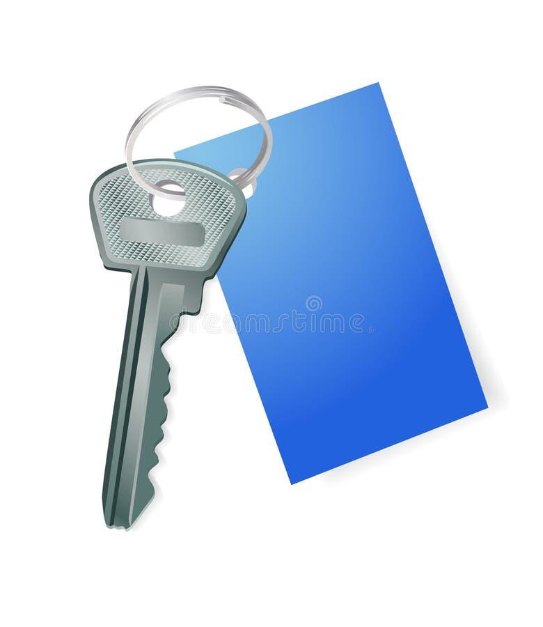 Download пустой голубой ключевой ярлык Иллюстрация вектора - иллюстрации насчитывающей дело, картина: 6854482