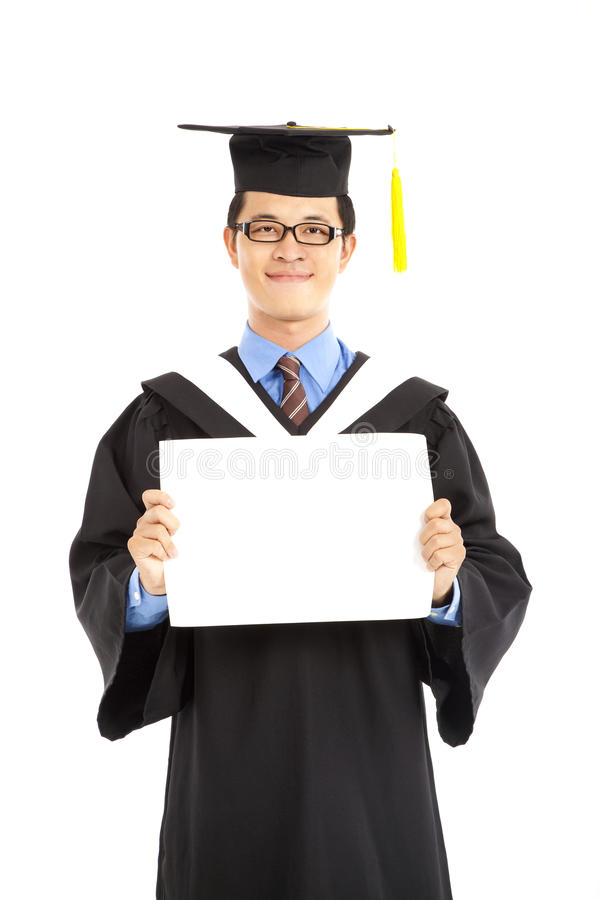пустой диплом показывая студента Стоковое Фото изображение   пустой диплом показывая студента Стоковое Фото изображение 25139892
