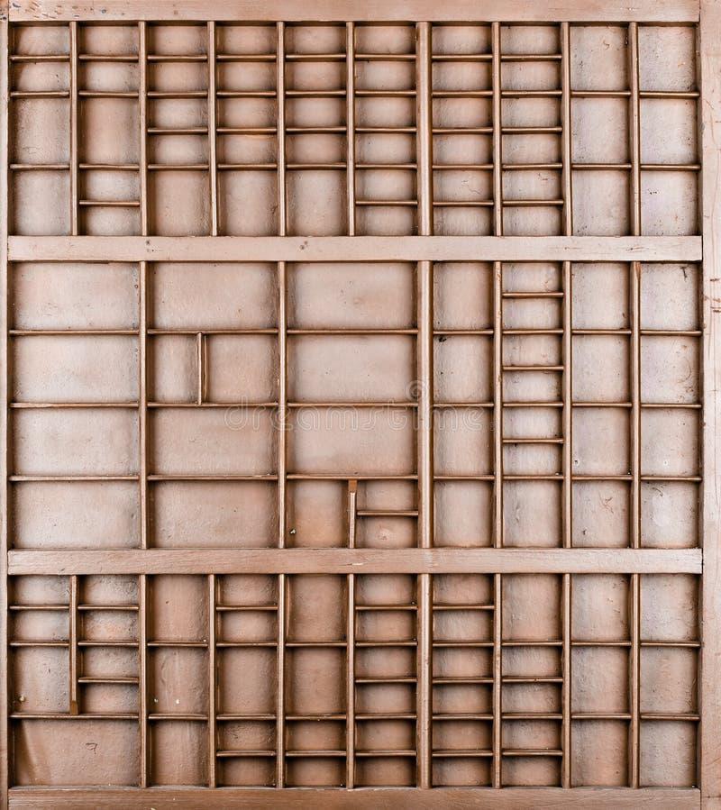 Пустой деревянный коричневый цвет покрасил семя или письма или коробку collectibles стоковые изображения