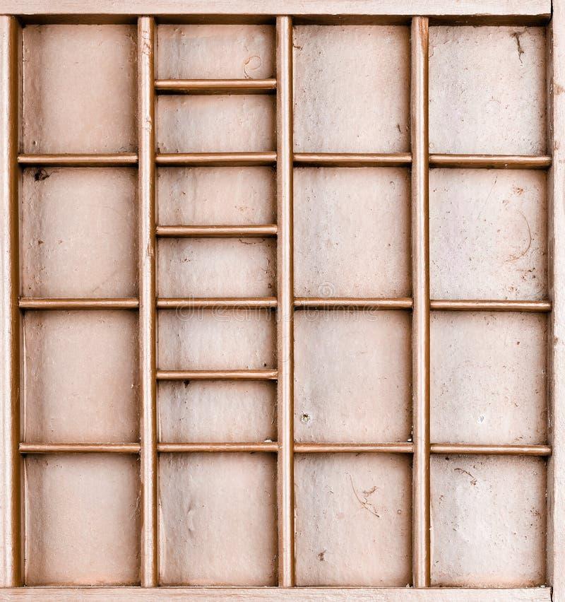 Пустой деревянный коричневый цвет покрасил семя или письма или коробку collectibles стоковые изображения rf
