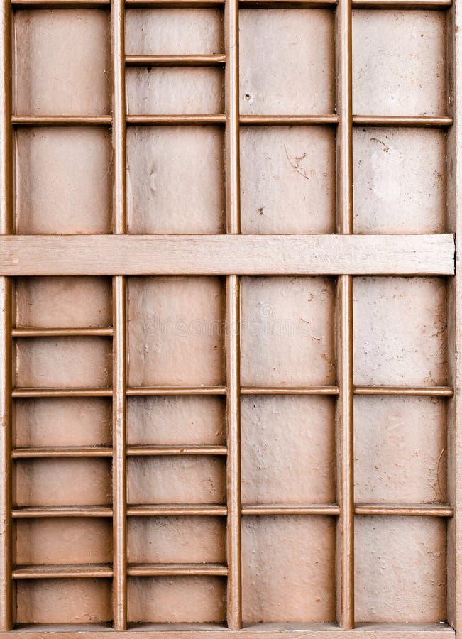 Пустой деревянный коричневый цвет покрасил семя или письма или коробку collectibles стоковые фотографии rf