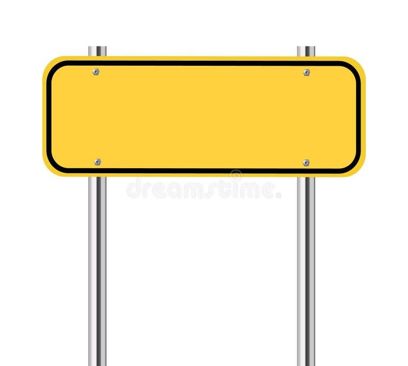 Пустой желтый знак уличного движения бесплатная иллюстрация