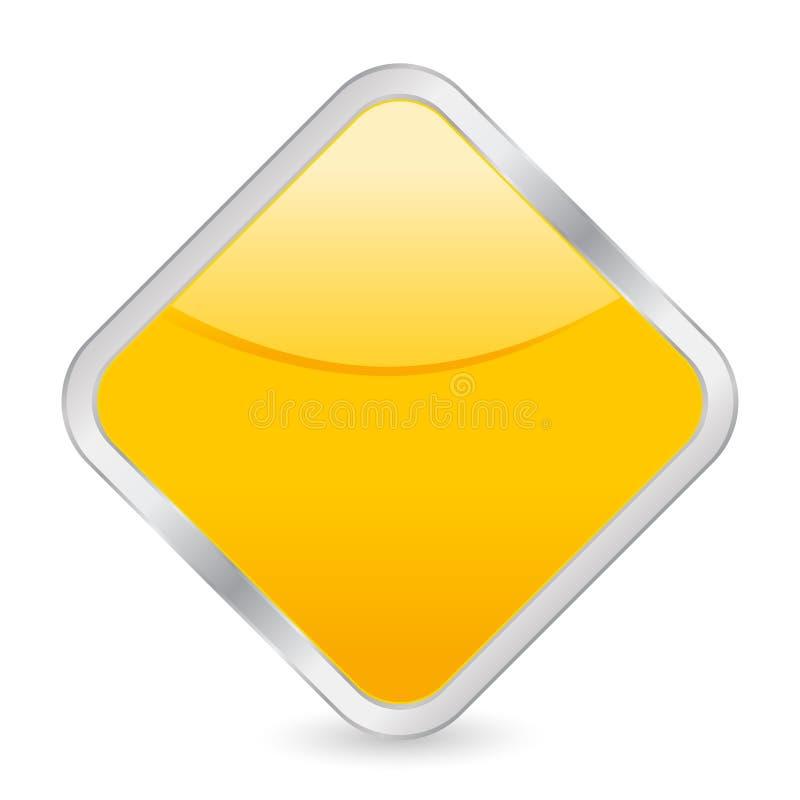 пустой желтый цвет квадрата иконы иллюстрация штока