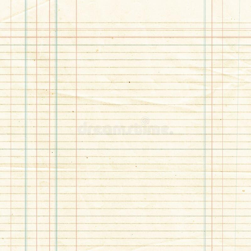 Выровнянная Sepia бумажная предпосылка листа или текстурировано иллюстрация вектора