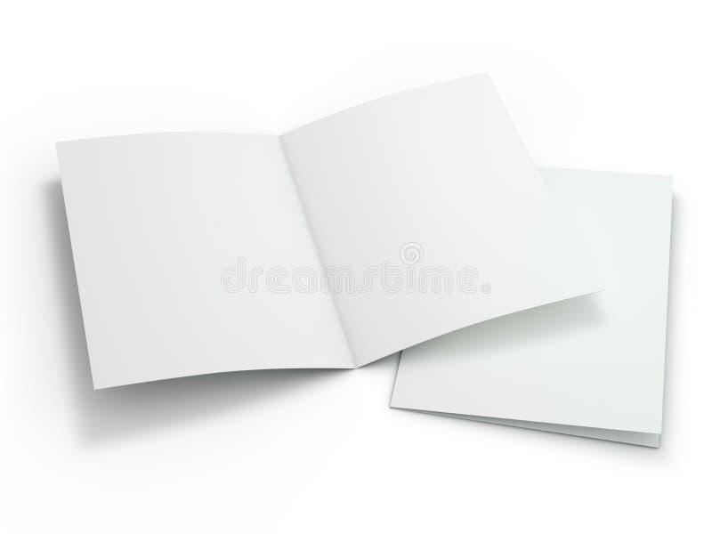 Пустой журнал брошюры изолированный для замены вашего дизайна 3d иллюстрация штока