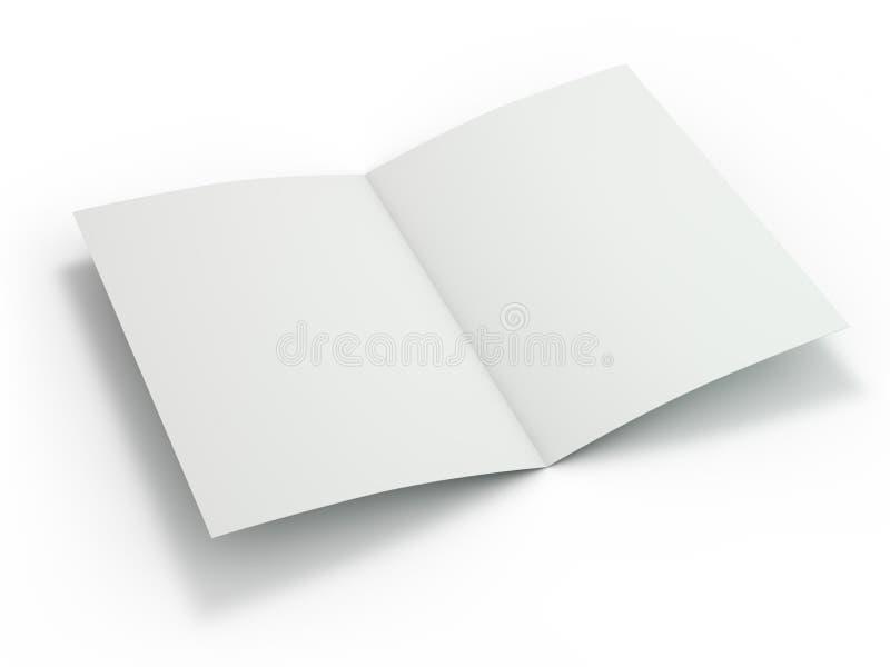 Пустой журнал брошюры изолированный для замены вашего дизайна 3d бесплатная иллюстрация