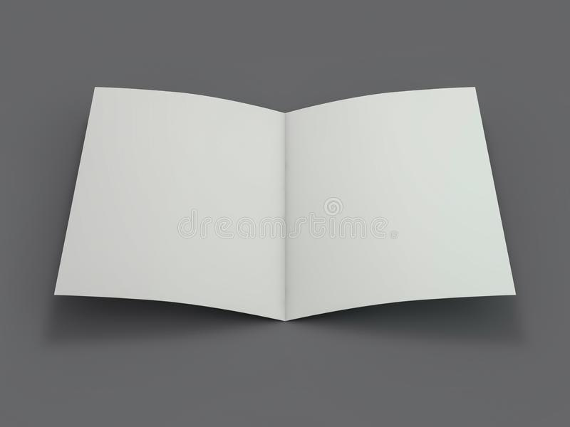 Пустой журнал брошюры изолированный для замены вашего дизайна 3d иллюстрация вектора