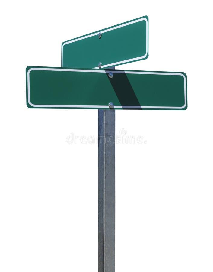 Пустой зеленый знак улицы стоковая фотография rf