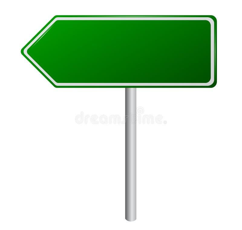 пустой зеленый дорожный знак иллюстрация штока