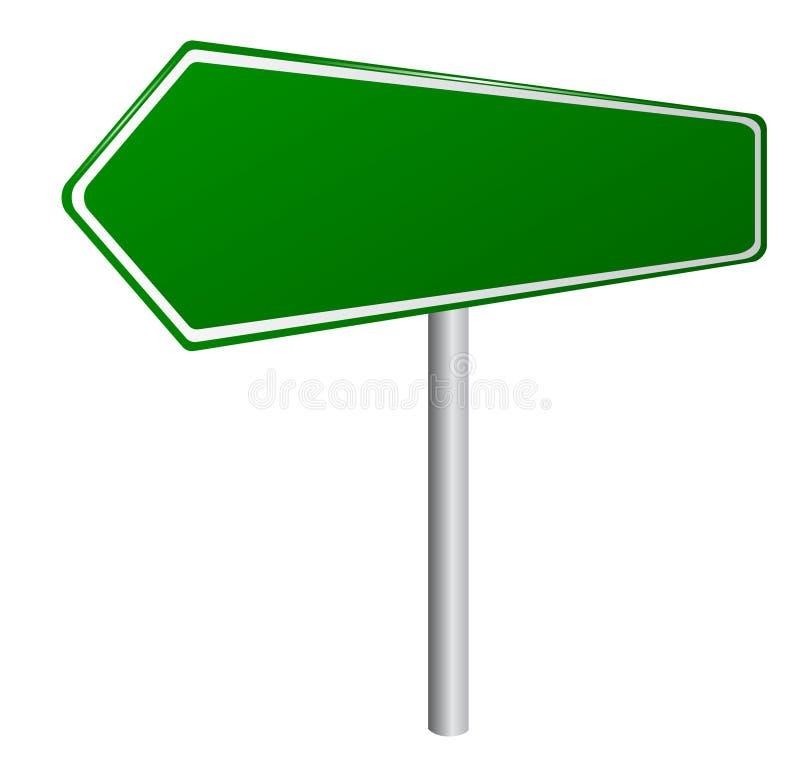 пустой зеленый дорожный знак иллюстрация вектора