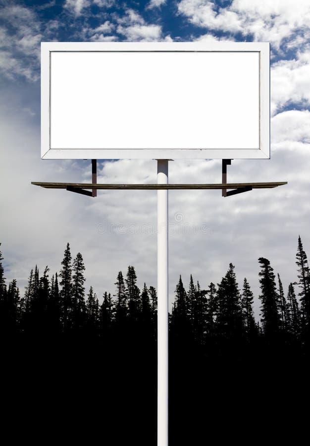 Пустой знак афиши для вашего сообщения стоковые фотографии rf
