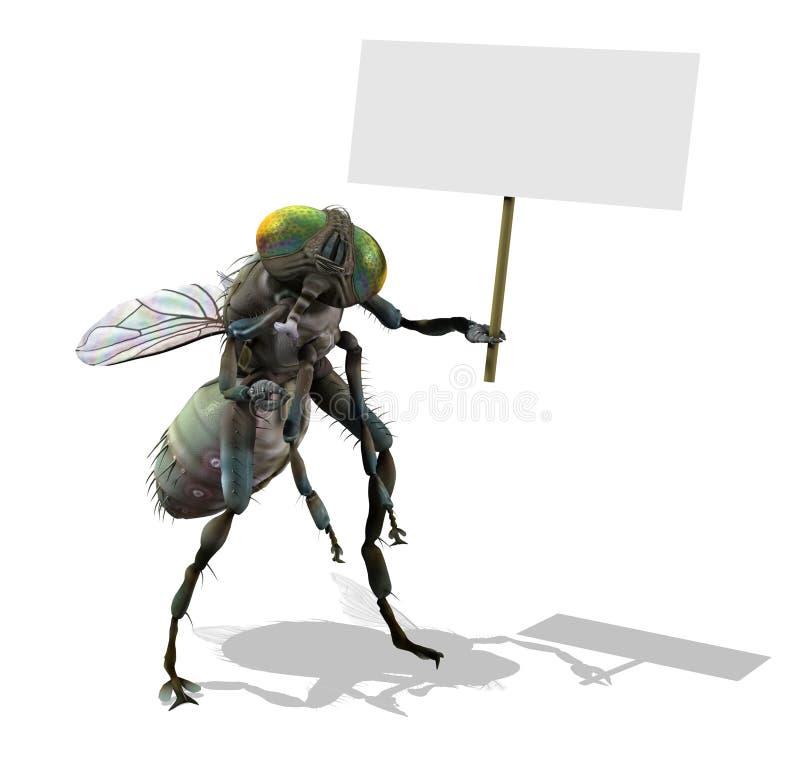пустой знак гиганта мухы бесплатная иллюстрация