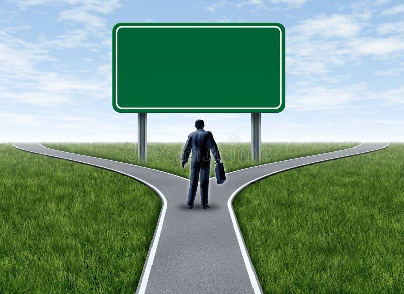 пустой знак деловых решений бесплатная иллюстрация