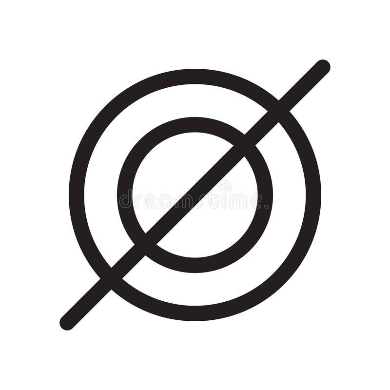 Пустой знак и символ вектора значка установленного символа изолированные на белой предпосылке, пустой концепции логотипа установл иллюстрация штока