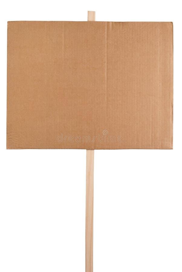 пустой знак протеста стоковые изображения rf