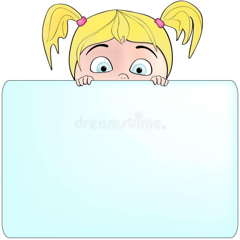 Download пустой знак сообщения удерживания девушки ваш Иллюстрация вектора - иллюстрации насчитывающей кавказско, влюбленность: 18376896