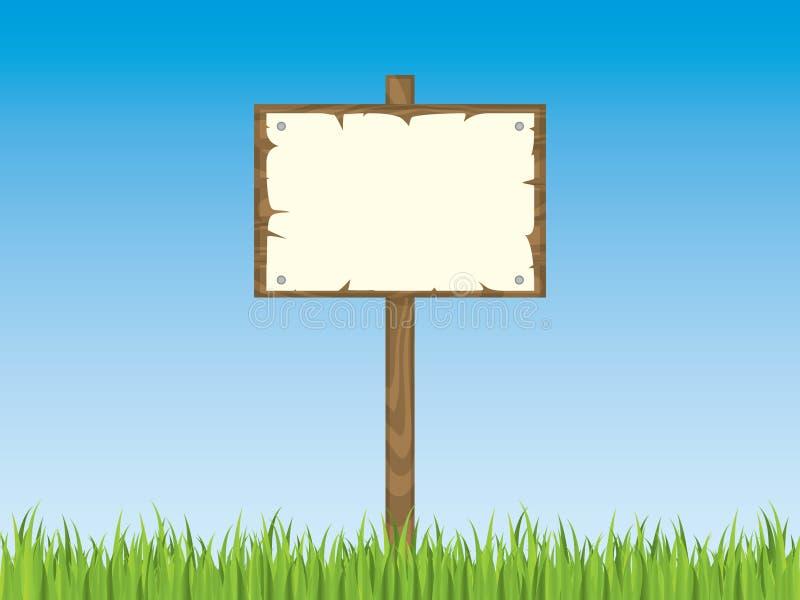 пустой знак столба травы бесплатная иллюстрация