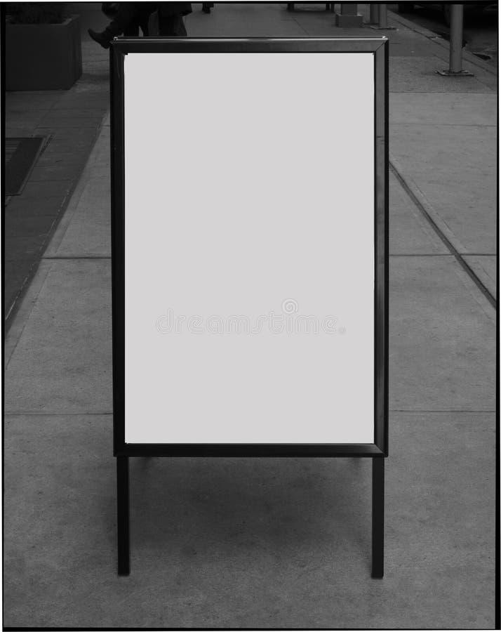 пустой знак тротуара дела стоковое изображение