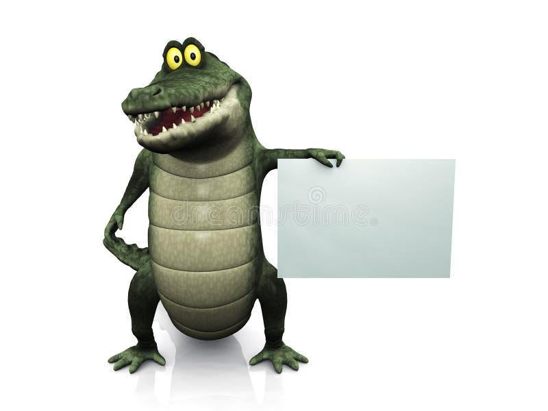 пустой знак удерживания крокодила шаржа бесплатная иллюстрация