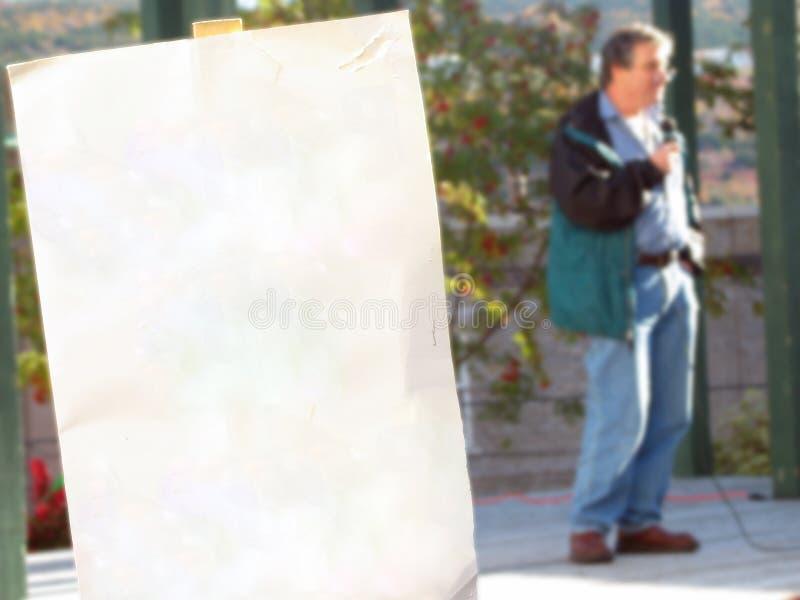 пустой знак ralley протеста стоковые изображения