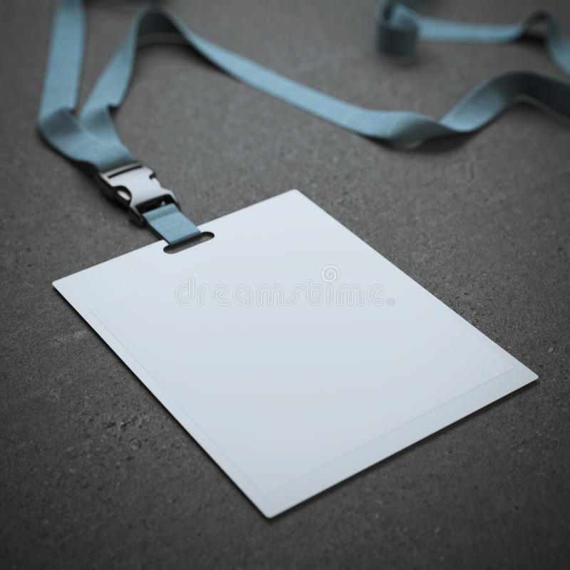 Пустой значок с neckband стоковое изображение rf